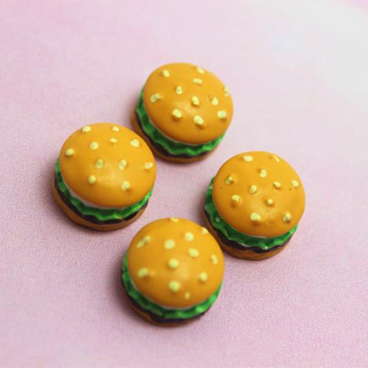 wholesale 50pcs very cute 3d resin hamburg flat back cabochon for DIY ornaments,RF2006(China (Mainland))
