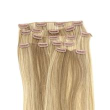 """New Gift 8 18"""" #18/613 Blonde Highlights Straight Full Head Synthetic Hair Extensions(China (Mainland))"""