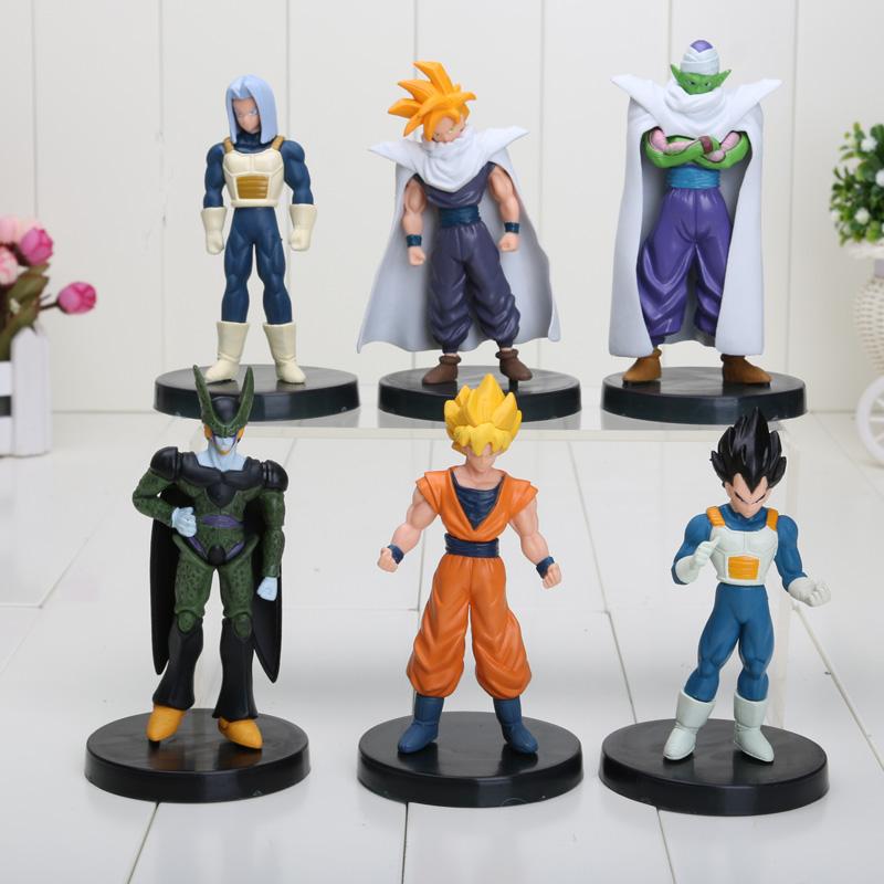 6pcs/set Dragon Ball Z Action Figures Cell/Goku/Vegeta PVC Figures Toys Best Gift Collection(China (Mainland))