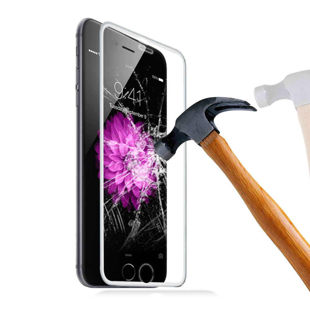 2015 Hot for IPhone6s 5.5 inch Titanium alloy frame Explosion Dust Proof Premium 9H Hardness Tempered Glass 3D Screen Protector(China (Mainland))