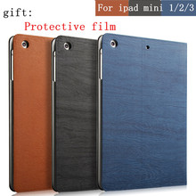 Hot sale Ultra-thin Smart case For iPad mini case Leather Stand Cover capa For Apple iPad mini 1 2 3 case Wake Up/Sleep Function(China (Mainland))