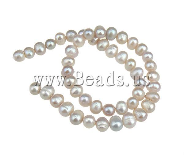 Free shipping!!!Potato Cultured Freshwater Pearl Beads,Famous, natural, purple, 8-9mm, Hole:Approx 0.8mm, Length:15 Inch
