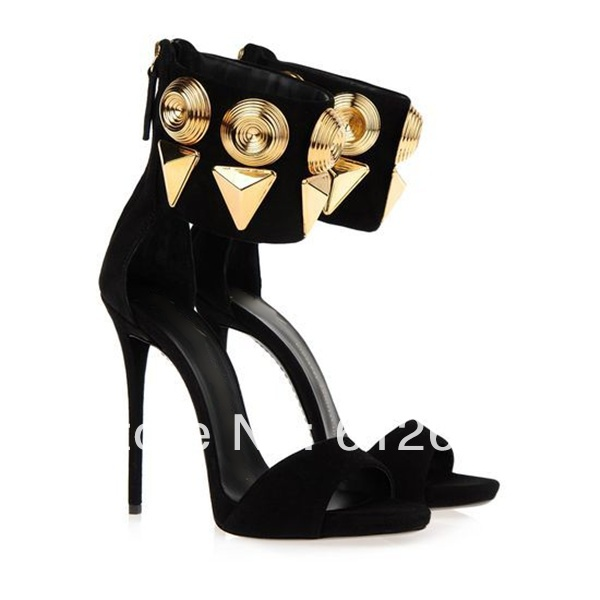 Popular Peep Toe High Heels Women Black Gold Pumps-Buy Cheap Peep