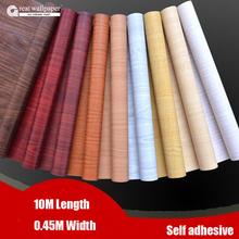 Great wall Waterproof fabric stickers roll wallpaper furniture wood grain paper self adhesive film wardrobe door stickers(China (Mainland))
