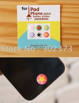 Free shipping by DHL/EMS,wholesale 200pair Home Button Sticker For iPhone/iPad/ipod touch2/3/4