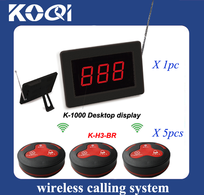 One set of Wireless waiter call button systems display receiver and pager buzzer waterproof(China (Mainland))
