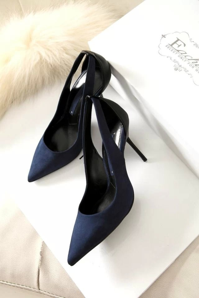 Women high heels 2016 Women European and American Fashion pointed high-heeled shoes women sexy suede fine with hollow shoes