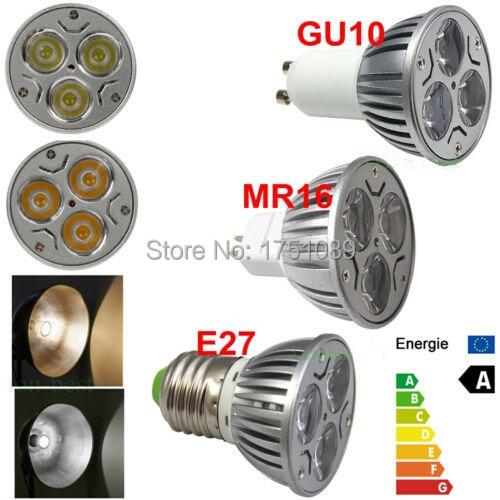 Dimmer High Power E27/GU5.3/GU10/MR16 LED Light Bulb 9W 12w 15w LED Spot Light Bulb Lamp White/Warm White Bulb lamp(China (Mainland))