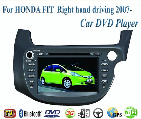2 Din Car DVD Player Fit HONDA FIT / JAZZ RHD  2007-2009 2010 2011 2012 2013 2014  GPS TV 3G Radio WiFi Bluetooth Wheel Control(China (Mainland))
