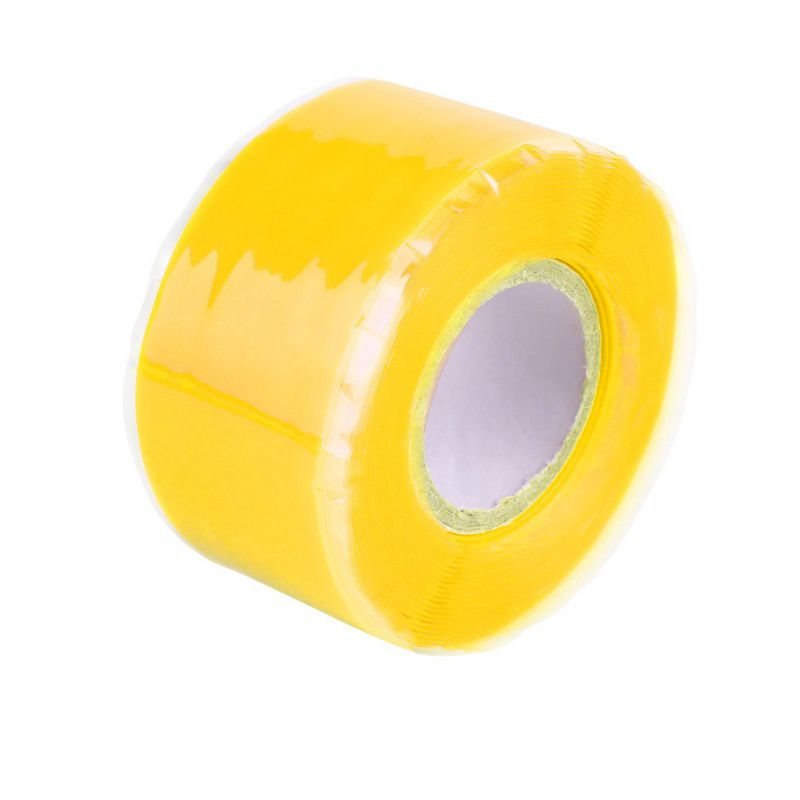 Blue Waterproof Silicone Performance Repair Tape Bonding Rescue Self Fusing Wire Hose Black Transparent Film