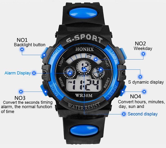 2015 Hot Sale, 1PC Men Boy Digital Watch Sport LED Quartz Alarm Date Sports Wrist Watch Multifunction Military Boys Hour Gifts(China (Mainland))