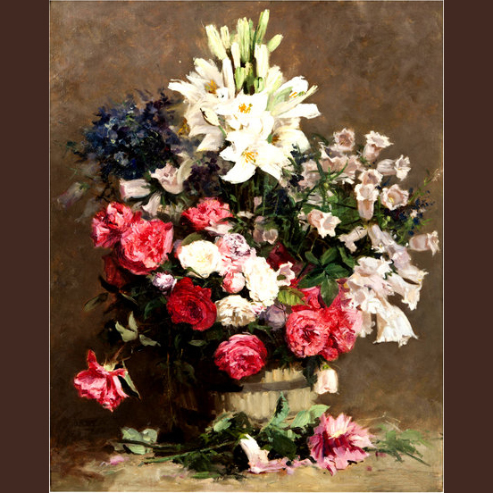 Vintage Flower Painting Prints -Top Quality Standard Vintage Painting Prints(China (Mainland))