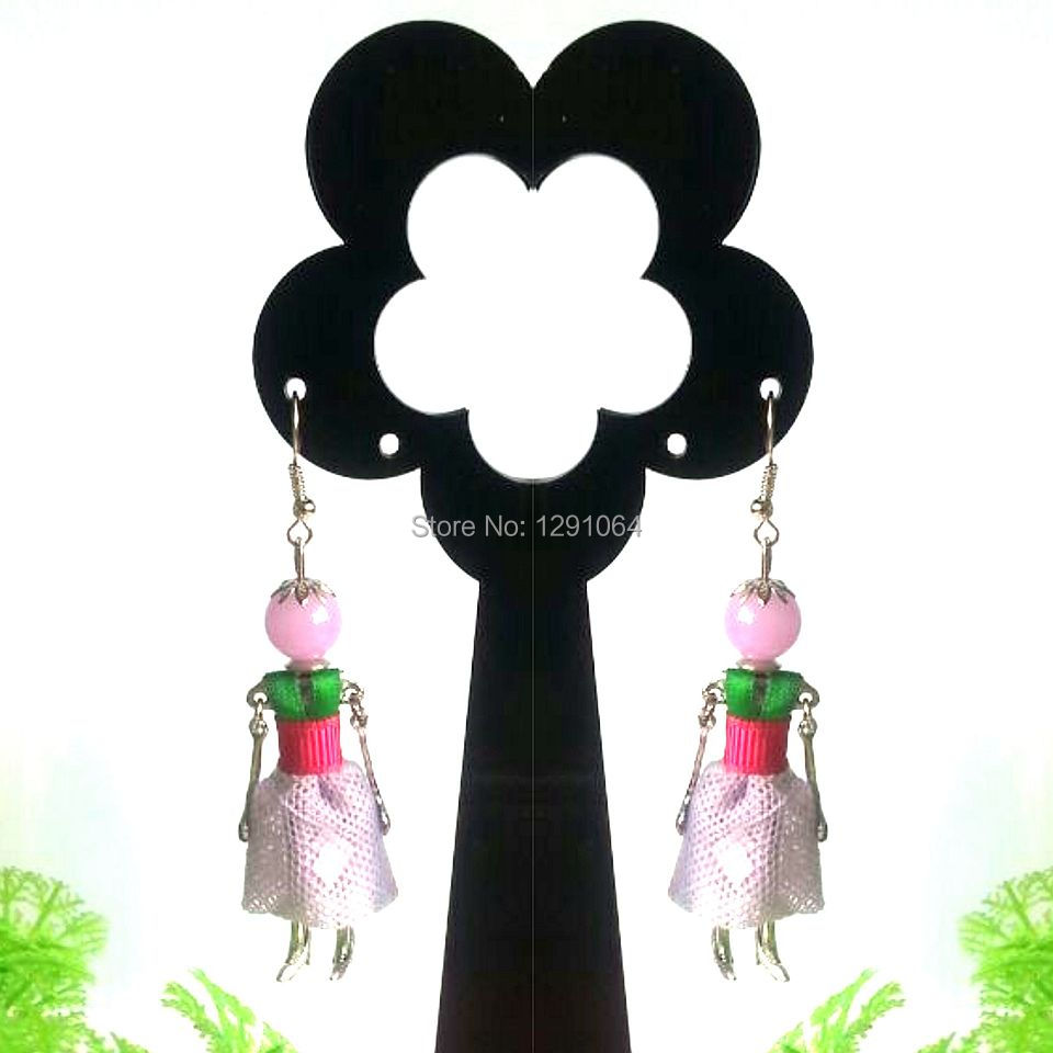 2014  Newest Fashion Design Jewelry New Arrival Handcraft Doll Earring Dancing Earring free shipping wholesale with MOQ 120pcs<br><br>Aliexpress