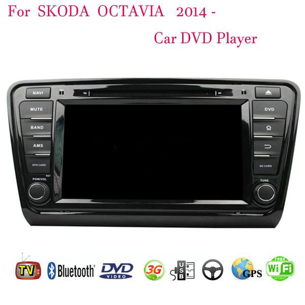 Автомобильный DVD плеер 1024 * 600 4.4.4 Skoda OCTAVIA 2015 DVD 3G WiFi bluetooth, GPS dvd выживший 2015