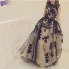Arabic 2016 Vintage Evening Dresses Appliques Long Gowns Robe De Soiree Longue Formal Dress O-neck Vestido De Festa Abendkleider(China (Mainland))
