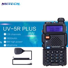 NKTECH Walkie Talkie 8W UV-5R PLUS VS Baofeng UV5R Transceiver VHF UHF Dual Radios vhf +Speaker Mic - onshowing store
