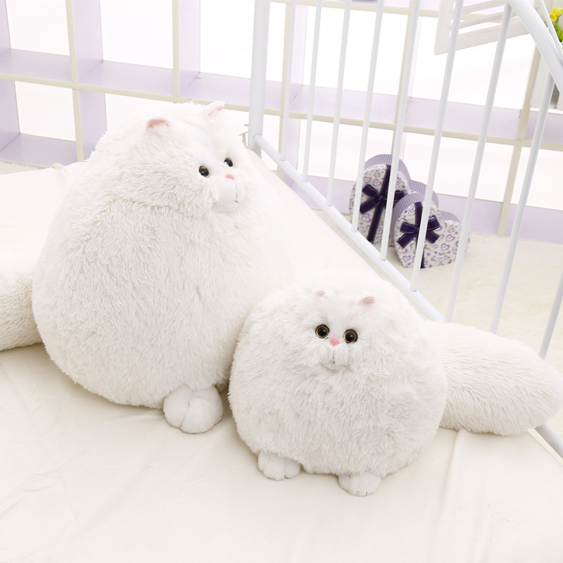 1pcs 30cm Korea Cute White Soft Persian Cat Doll Simulation Cat Toy Plush Baby Kids Girl Birthday/Valentine's Gift free shipping(China (Mainland))