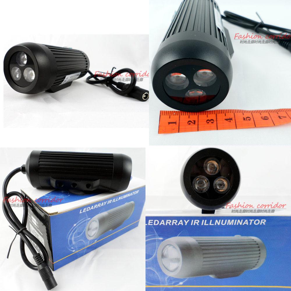 CCTV Surveillance IR Illuminator LED Hybrid array Indoor/outdoor 2800mw 850nm 50M L-50R 45 degrees Black IP-66(China (Mainland))