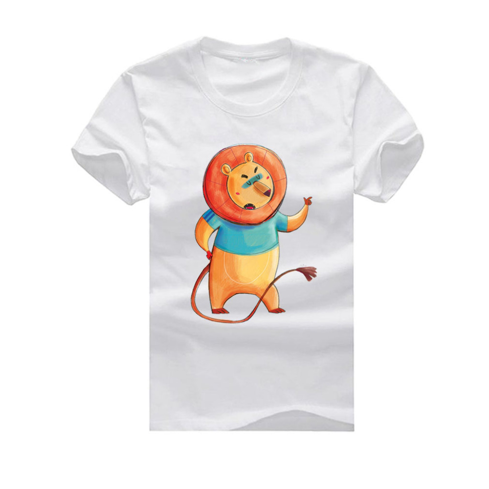 Lion Dance New Fashion Man T-Shirt Cotton O Neck Mens Short Sleeve Mens tshirt Male Tops Tees Wholesale(China (Mainland))