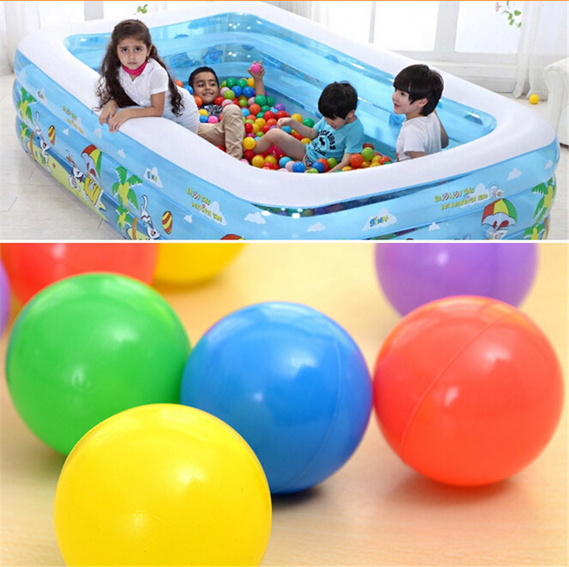 20 Pcs Baby Kids Children Safety Colorful Soft Plastic Ocean Ball Child Toy Swim Pool Ball Pits Playground Toy Funny Game(China (Mainland))