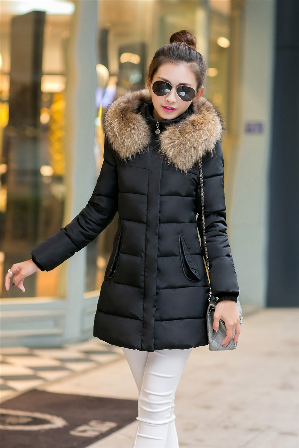 #2619 Winter coat sale for women 2016 Slim Fashion Casaco feminino inverno Womens winter jackets and coats Jaquetas feminina