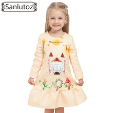 Buy 2016 Winter Girls Dress Brand Kids Clothes Girls Children Clothing Cartoon Dress Princess Holiday Party Wedding Toddler Autumn for $11.58 in AliExpress store