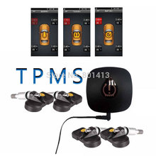 Car Bluetooth TPMS Wireless Car Tire Pressure and Temperature Monitoring System For Android with 4 internal Sensors