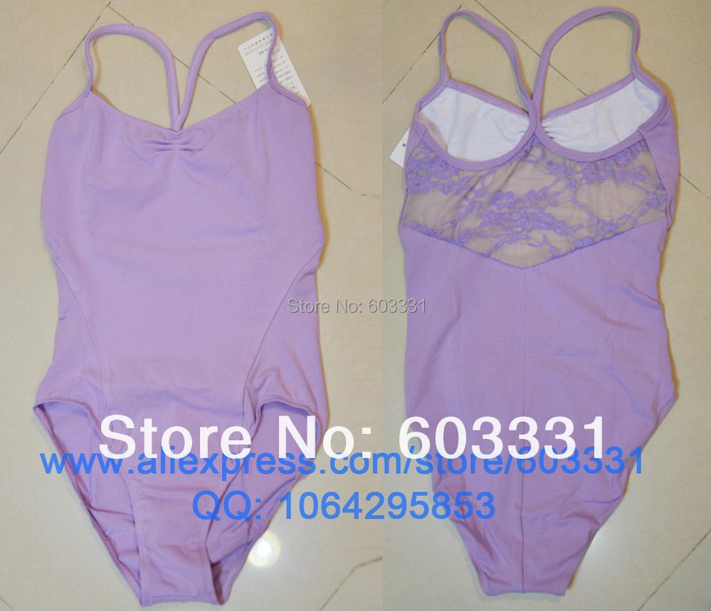 Brand New Adult Ladies Women's Cotton Ballet Fitness Gymnastics Dance Leotard Lace Purple Size L/XL/XXL - dance dress store
