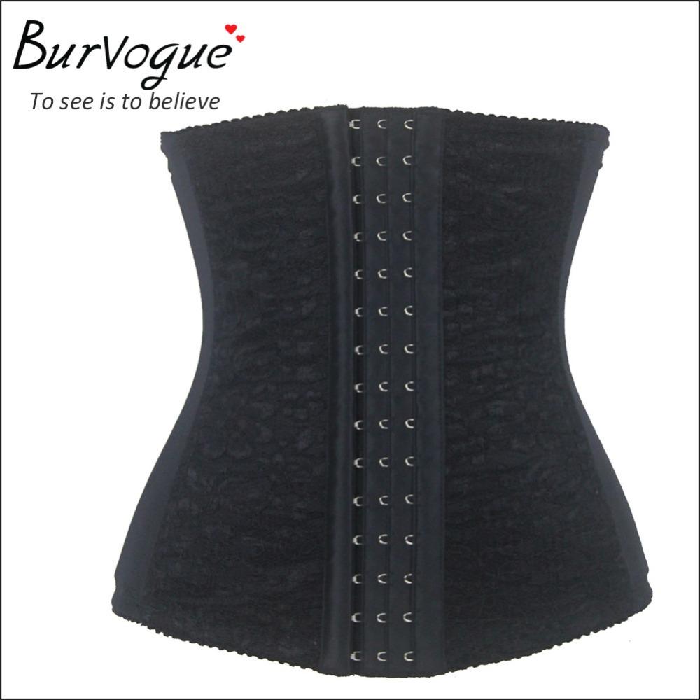 2015 hot sale waist training corsets shaper black underbust corset steel waist cincher shaper belt body shapers for women(China (Mainland))