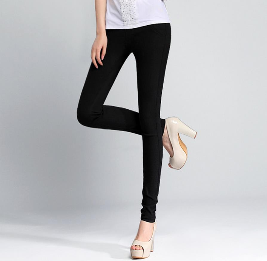 Hot!! Cheap elastic jeans, spring autumn feet pencil pants, colored pants, wholesale color black Sky blue Army green khaki ...(China (Mainland))