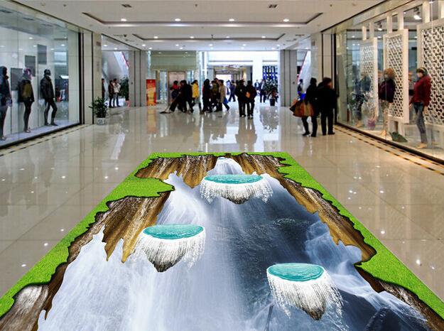 Made in china patr n est reo 3d arte de la porcelana del azulejo suelo fuera decoraci n en - Suelos de porcelana ...