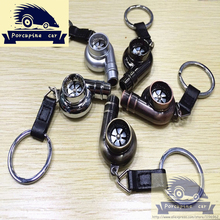 Whistle Sound Turbo Keychain Sleeve Bearing Spinning Auto Part Model Turbocharger Key Chain Ring Keyfob Keyring,car-styling(China (Mainland))