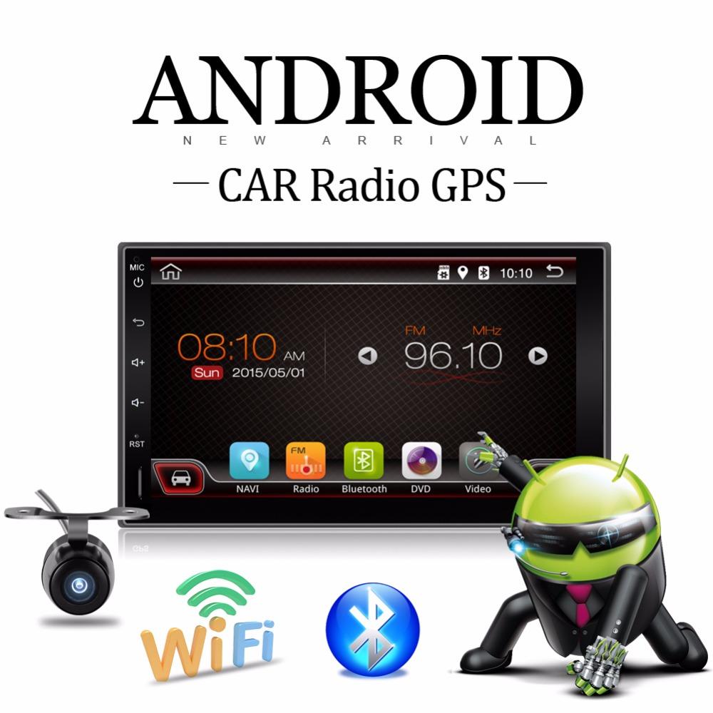 2 DIN Capacitive Android 4.4 3G Wifi Car PC GPS Player Autoradio BT Stereo USB SD Camera car parking Digital Bluetooth Video Map(China (Mainland))