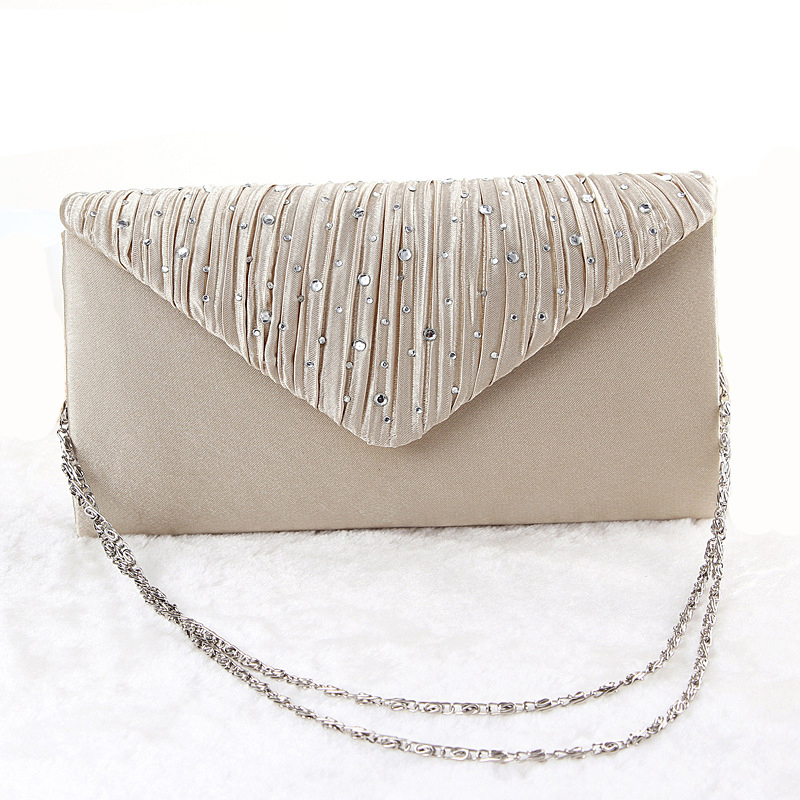 New Arrival Women Evening Bags Fashion Diamond Ladies Party Hand Bag 3 Colors Women's Day Clutches(China (Mainland))
