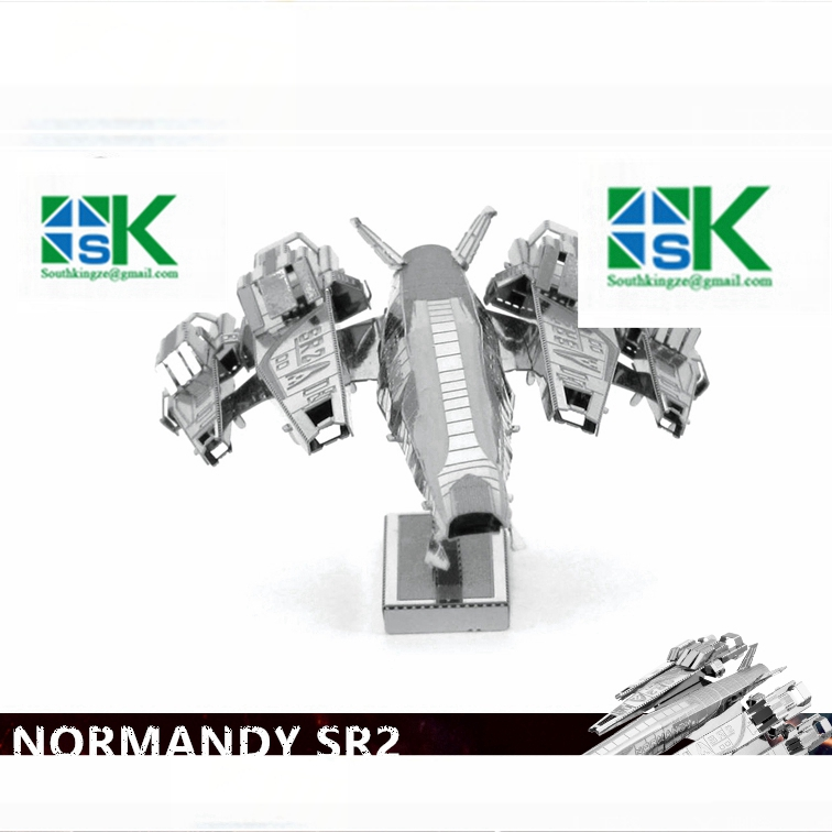 2016 New MASS effect NORMANDY SR2 3D metal puzzle model nano 1 Sheets Wholesale price Stainless steel DIY Cr high quality(China (Mainland))