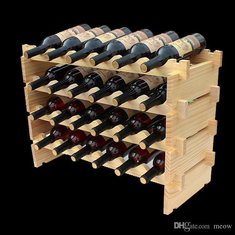 madeira rack de vinho diy montar prateleira vinho madeira titulares apropriado para o hotel. Black Bedroom Furniture Sets. Home Design Ideas