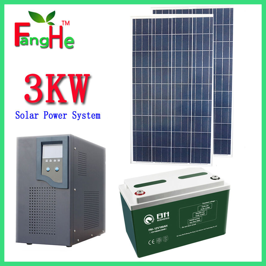 High quality residential solar power kit 3kw off grid system on alibaba solar power system 3000W(China (Mainland))