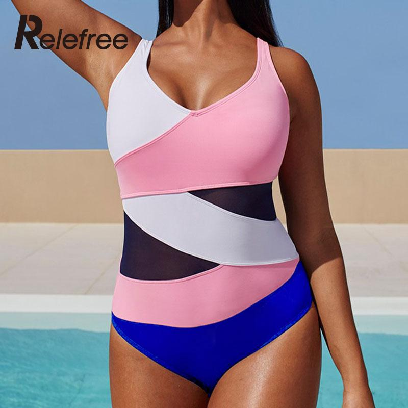 Women Fashion Beachwear Hit Color Splicing Swimsuit O Neck Plus Size One-piece Swimwears XL/XXL/XXXL/XXXXL/XXXXXL(China (Mainland))