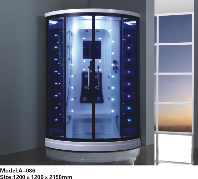 Steam shower room with colorful led lights 0262-A086(China (Mainland))