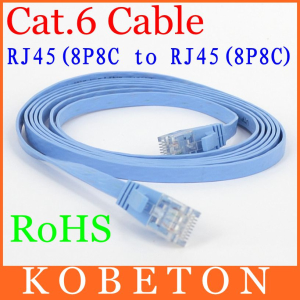 2015 5M CAT6 RJ45 Flat UTP 10/100/1000Mbps Ethernet 8P8C Network Cable 10G Base For Router DSL Modem laptop tablet PC Computer(China (Mainland))