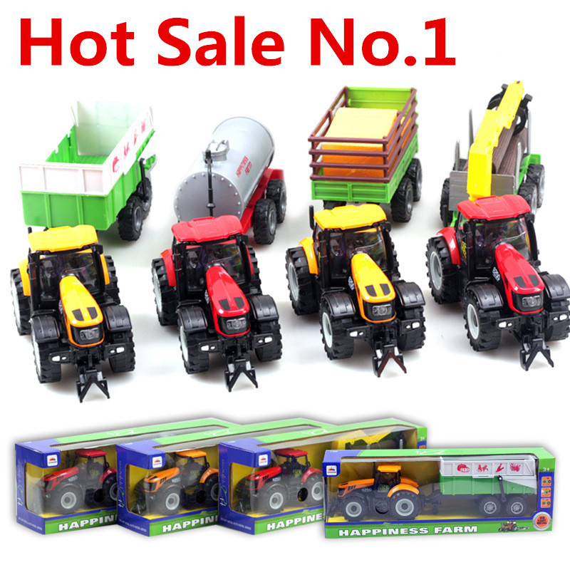 Sale 1:32 alloy farmer Trailer, Alloy model car, sliding toys,Diecast cars, gift packaging, children's gifts, free shipping(China (Mainland))