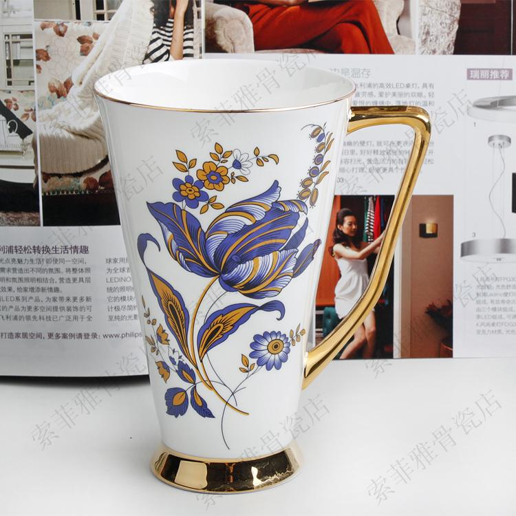 Free shipping, Mug coffee cup bone china cup for beer big cola cup large coffee cup(China (Mainland))