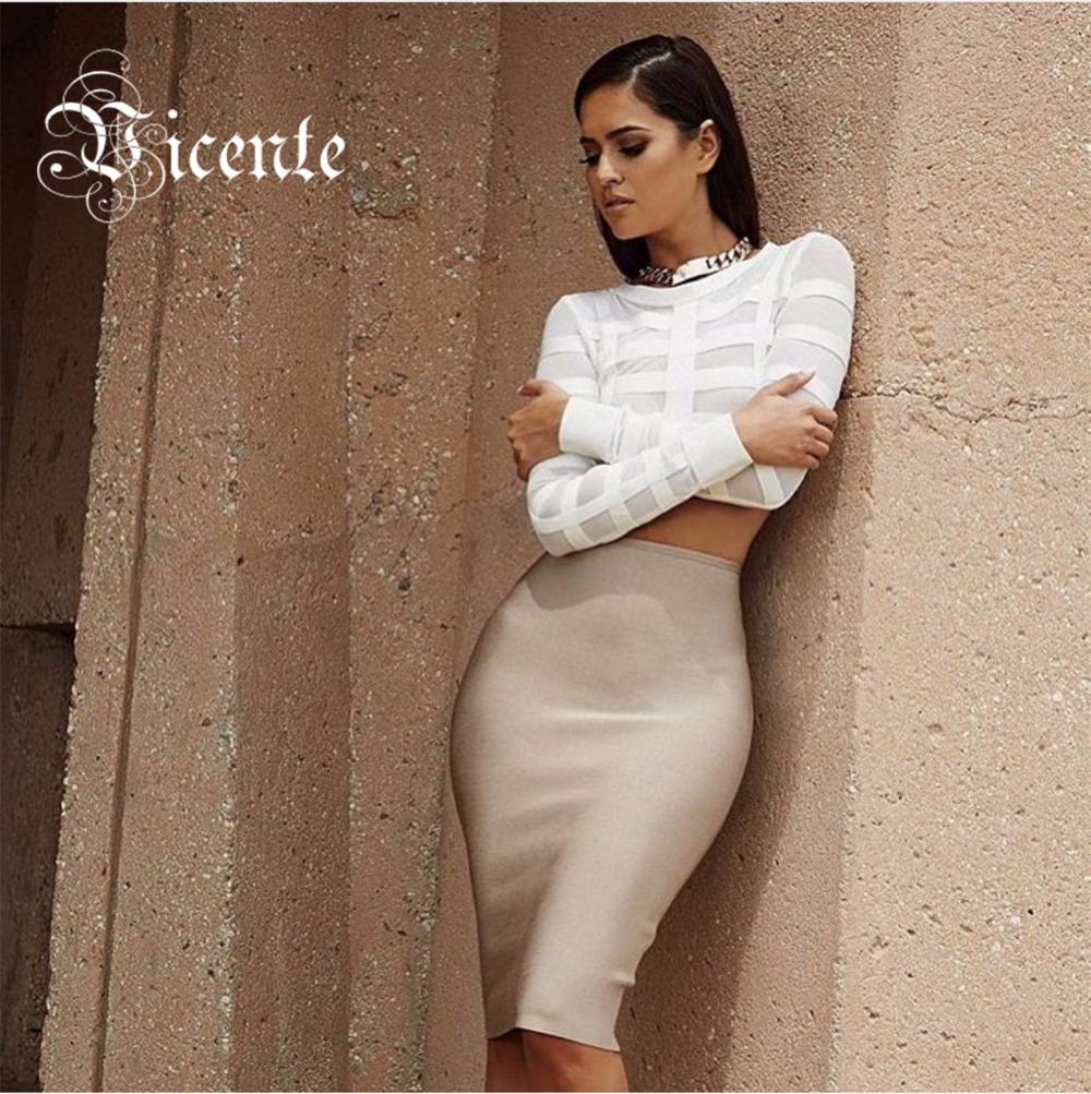 2016 New! Free Shipping! Fashion Inspired Style Sheer Mesh Long Sleeves Midi Bottom Two pieces Bandage SetОдежда и ак�е��уары<br><br><br>Aliexpress