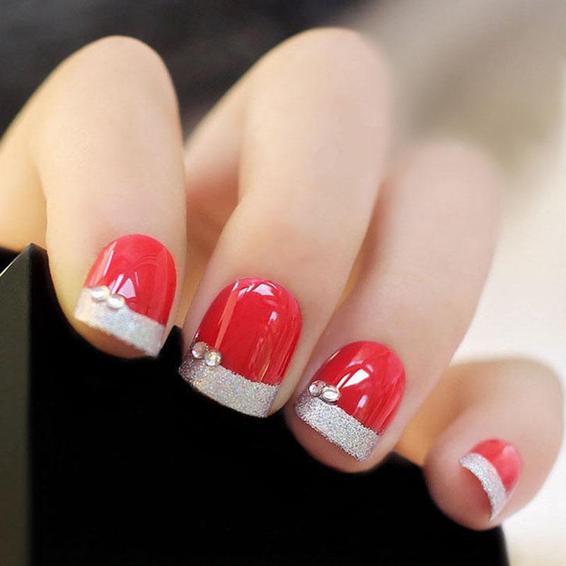 Popular Red Fingernail Tips-Buy Cheap Red Fingernail Tips