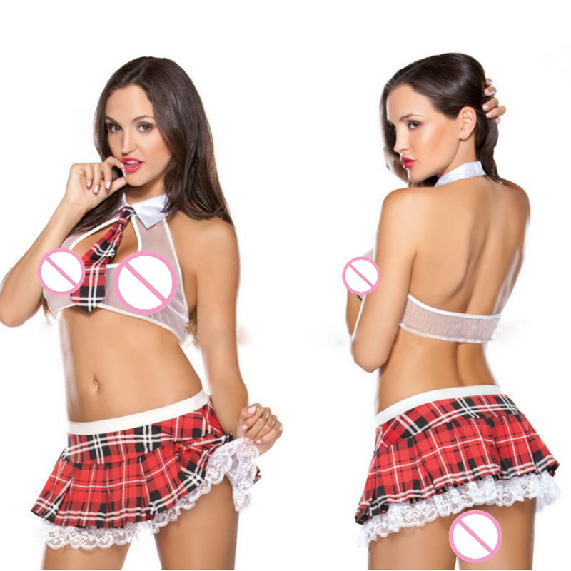 Women Baby Doll Sexy Lingerie Hot Erotic Lace Sexy Costumes Cosplay School Girl Uniform Erotic Dress Underwear Women Erotic