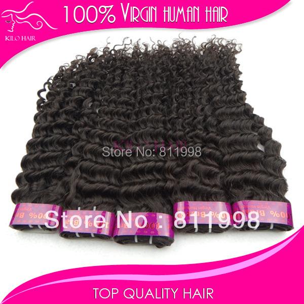 guangzhou kilohair brazilian hair ladies,2pcs lot 1b 100% virgin remy brazilian deep wave human hair weave DHL FREE shipping(China (Mainland))