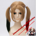 Hot sell Free Shipping Movie Batman Suicide Squad Harleen Quinzel Harley Quinn Cosplay Wig Styled Curly