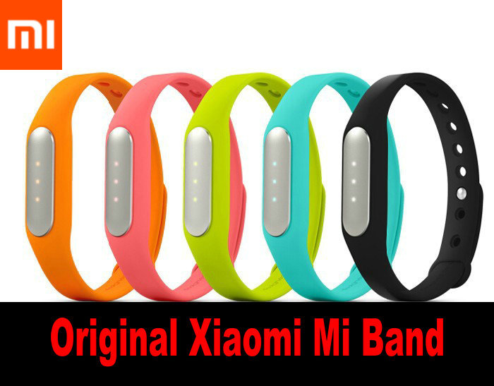 Original Box Original Xiaomi Mi Band Smart Miband Bracelet For Android 4.4 IOS 7.0 MI3 M4 Waterproof Tracker Fitness Wristbands(China (Mainland))