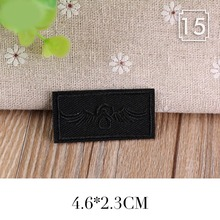 PGY Black Leather Yeah Star Number Embroidered Patches for Clothes Iron on Clothes Jacket Shoes Appliques Badge Stripe Stickers(China)