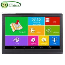 """7"""" Capacitive Android GPS Tablet Navigator Quad Core Car GPS Navigation 512M 8G Bluetooth FM Transmitter Truck Map Europe Maps(China (Mainland))"""